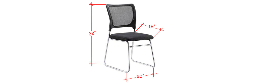 Coretta Series Office Chair With Arm In Black