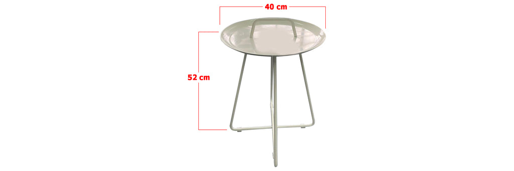 Aria Round Side Table In White