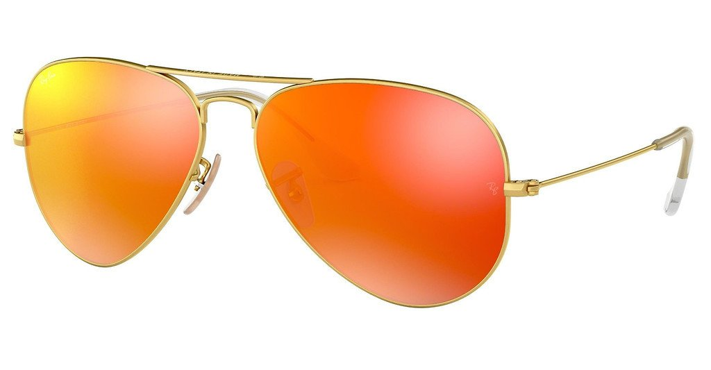 Aviator Flash Orange - RB3025 Aviator Large 002/4W Taille 58