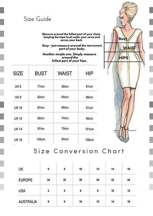 Fashion Wholesale Size guide