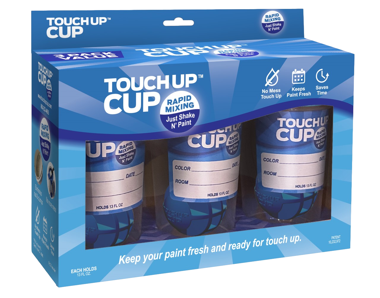 Touch Up Cup | Three Pack - Just Shake N' Paint!