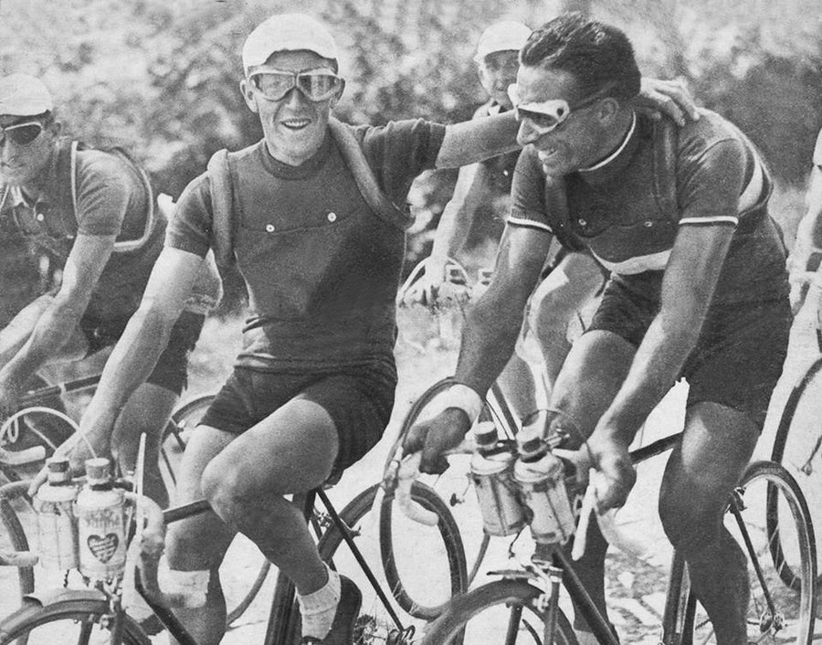 Gruppetto is the name of the group of riders at the back of a cycling race during the steep mountain climbs. Often not the best climbers and also known as 'the laughing group', the Gruppetto encourage each other along and work together to finish the race.