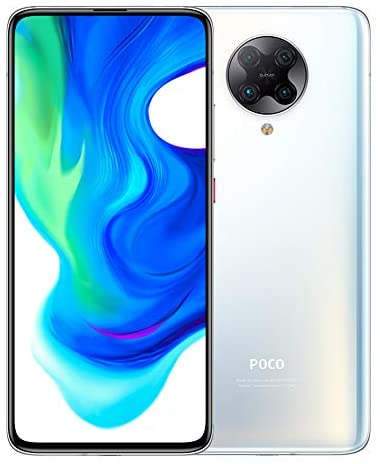 "Xiaomi Poco F2 Pro 128GB, 6GB RAM, 6.67"" AMOLED, 64MP Quad Rear Camera, Qualcomm Snapdragon 5G LTE Factory Unlocked Smartphone - International Version (Phantom White)"