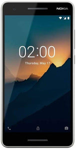 "Nokia 2.1 - Android 9.0 Pie (Go Edition) - 8 GB - Single SIM Unlocked Smartphone (AT&T/T-Mobile/MetroPCS/Mint) - 5.5"" Screen - Grey/Silver - International"