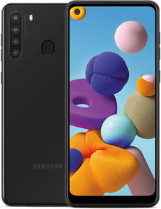 "Samsung Galaxy A21 Factory Unlocked Android Cell Phone | US Version Smartphone | 32GB Storage | Long-Lasting Battery, 6.5"" Infinity Display, Quad Camera 