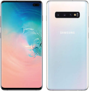 "Samsung Galaxy S10 128GB+8GB RAM SM-G973F/DS Dual Sim 6.1"" LTE Factory Unlocked Smartphone (International Model No Warranty) (Prism White)"