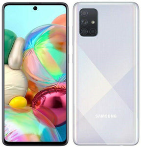 "Samsung Galaxy A71 (128GB, 6GB) 6.7"", 64MP Quad Camera, Single SIM, 25W Fast Charger, Android 10, GSM Unlocked US + Global 4G LTE International Model A715F (Prism Crush Silver)"