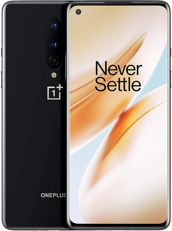 OnePlus 8 (5G) Dual-SIM IN2013 128GB/8GB RAM (GSM + CDMA) Factory Unlocked Android Smartphone (Onyx Black)- International Version