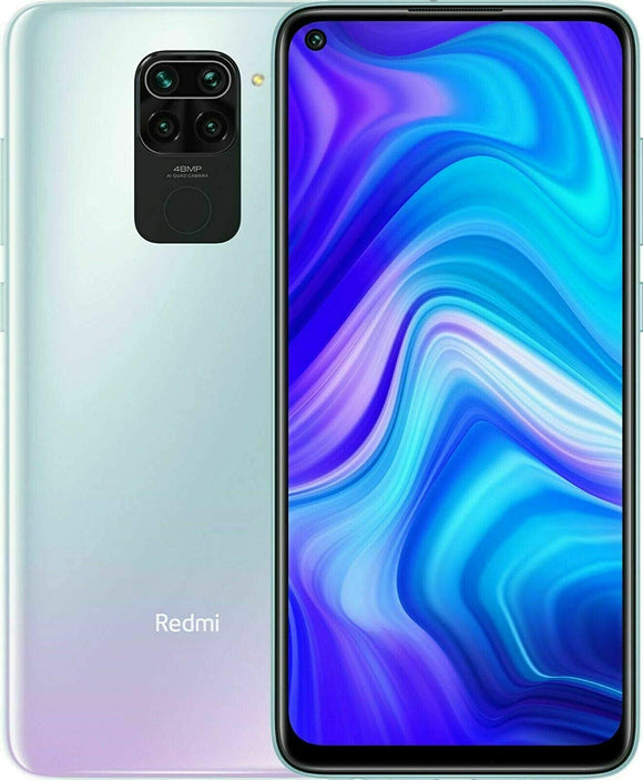 "Xiaomi Redmi Note 9 4GB RAM + 128GB, 48MP Quad Camera Hotshot, 5020mah Battery, 6.53 ""FHD +, LTE Factory Unlocked Smartphone - International Version (Polar White)"