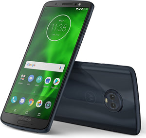 "Motorola Moto G6 (64GB, 4GB RAM) 5.7"" Full HD+ Display, Dual SIM 4G LTE (GSM Only) Factory Unlocked Smartphone - International Model XT1925-13 (Indigo Black)"