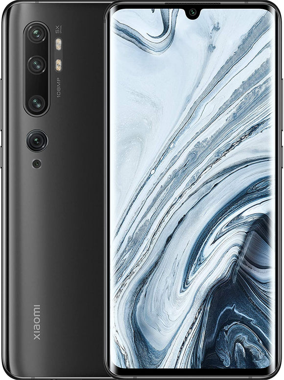 Xiaomi Mi Note 10 128GB 108MP Penta Camera 6.47″ LTE Factory Unlocked Smartphone (International Version) (Midnight Black)
