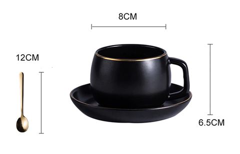 Tea Cup Product Size - Cup and Saucer | Mugs Set