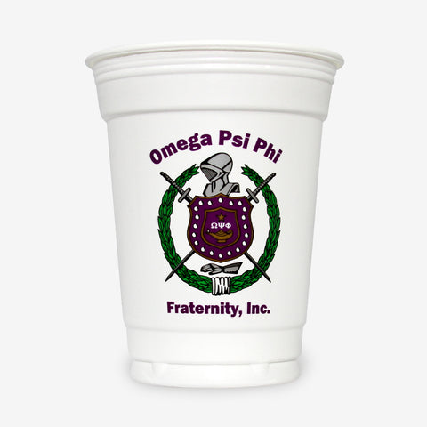 OPP 16 oz White Plastic Cup (24ct)