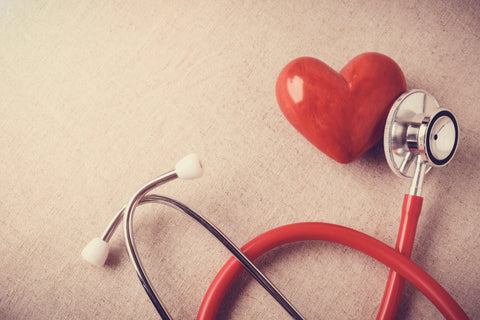 A red heart with stethoscope next to it.