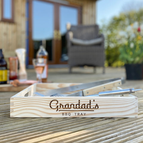 Personalised Wooden BBQ Tray