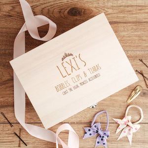 Personalised Girls Hair Accessories Box