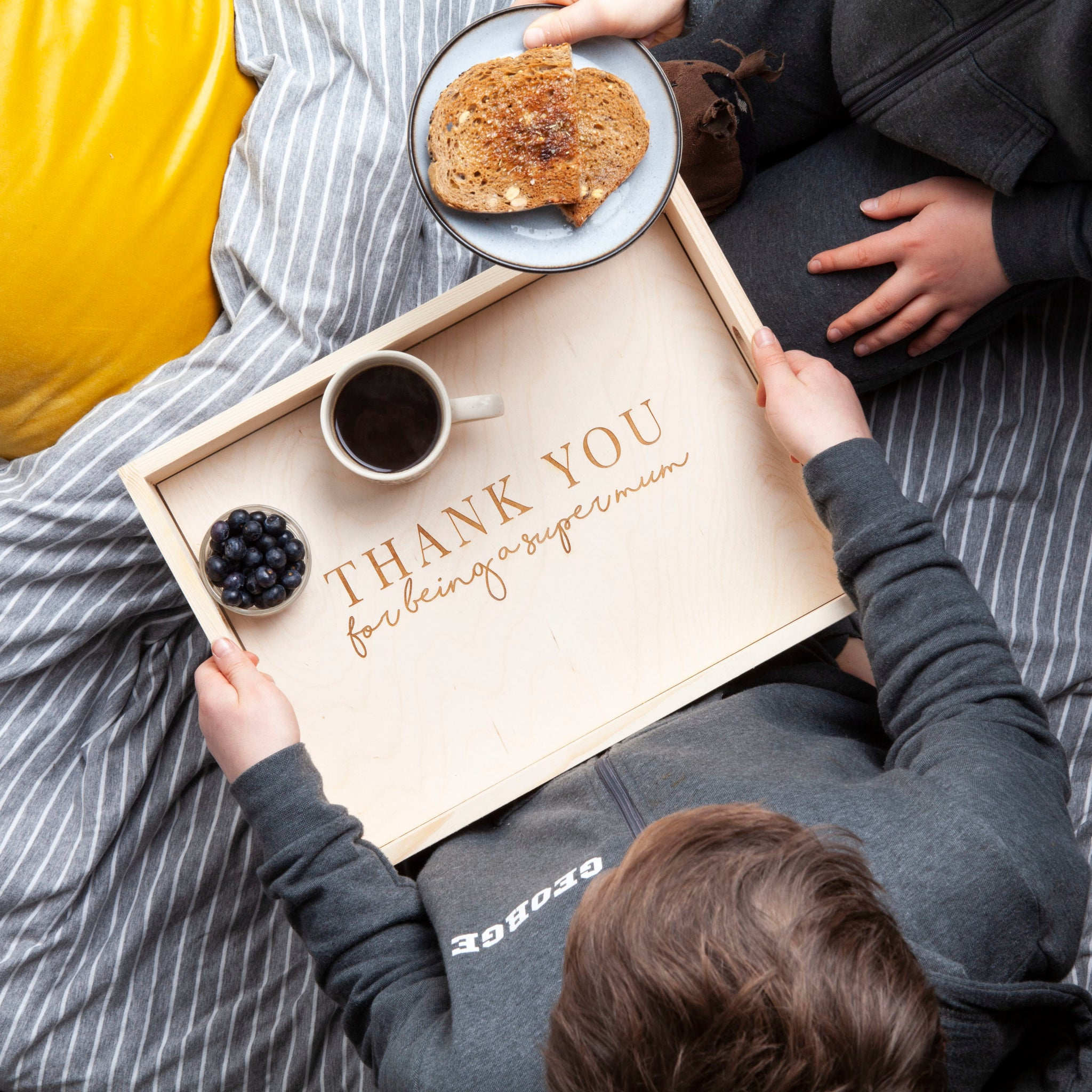 Personalised Super Mum Breakfast In Bed Tray
