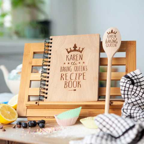 Personalised Recipe Book And Family Spoon Set