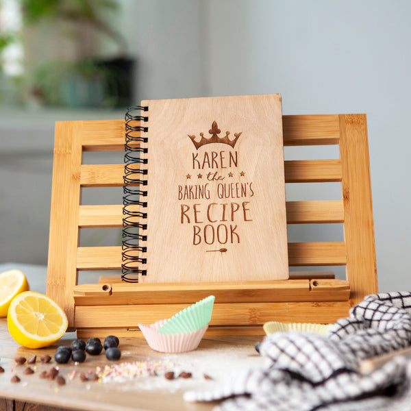 Personalised King or Queen Recipe Book And Spoon Set