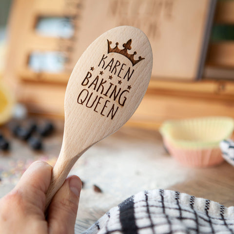 Personalised King Or Queen Baker Spoon