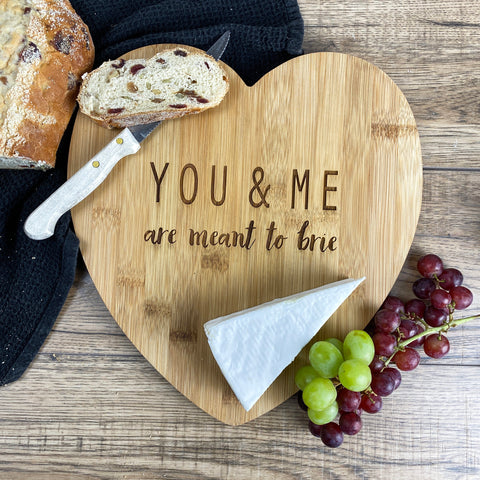 Personalised You & Me Bamboo Cheese Board
