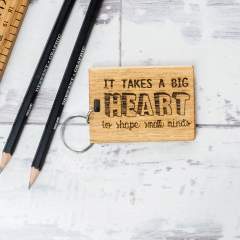 Personalised 'It Takes A Big Heart' Teachers Keyring