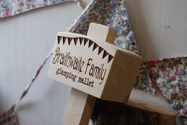 Personalised Glamping And Camping Mallet