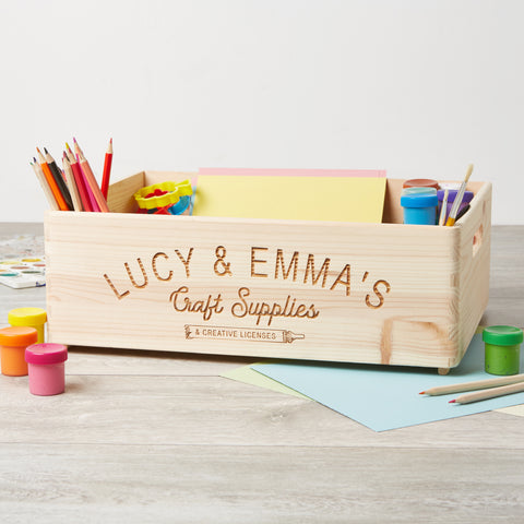 Personalised Large Craft Box