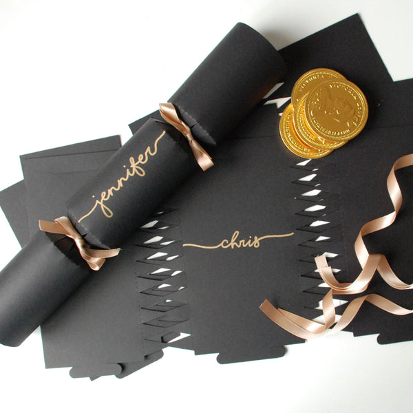 Personalised Handwritten Crackers READY MADE - Black