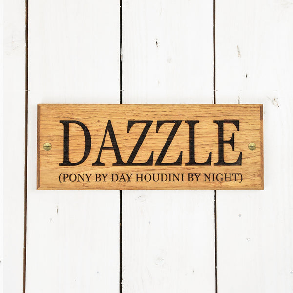 PERSONALISED STABLE DOOR SIGN