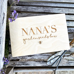 Personalised Garden Seed Box with Bee's