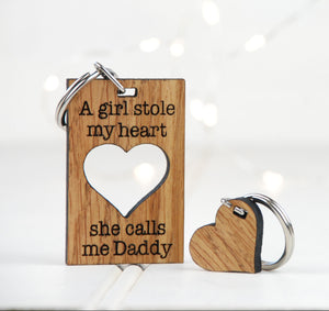 A Girl Stole My Heart She Calls Me Daddy Keyring