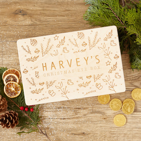 Personalised Motif Christmas Eve Box