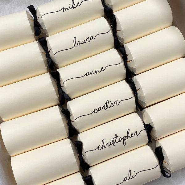 Personalised Handwritten Crackers READY MADE - Ivory