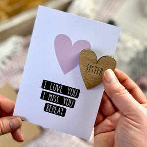 PERSONALISED - I LOVE YOU - I MISS YOU REPEAT CARD