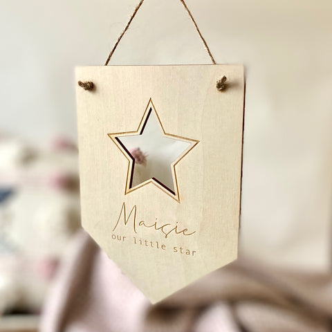 Personalised Our Little Star Flag