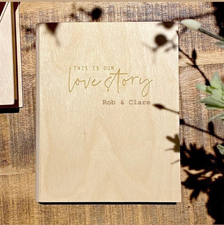 Personalised This Is Our Love Story Memory 'Book' Box