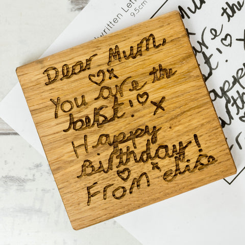 Personalised Handwritten Letter Coaster