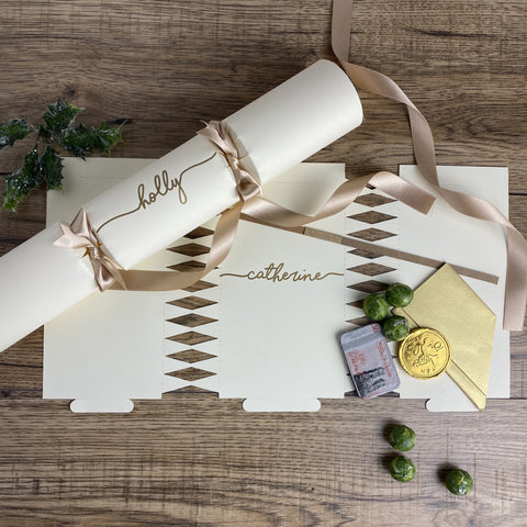 Personalised Handwritten CRACKER KIT - Ivory