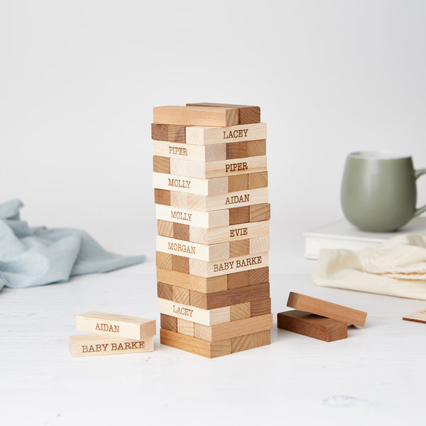 Personalised Ecological Wooden Stacking Tower