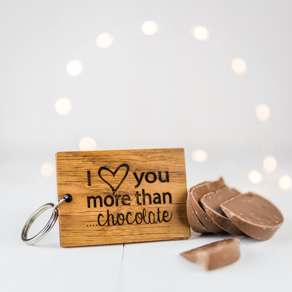 Personalised I Love You More Than…Keyring