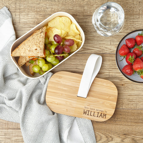 Personalised Eco-Friendly Bamboo Lunchbox