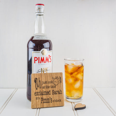 Personalised Wine, Gin Or Pimm's O'clock Coaster