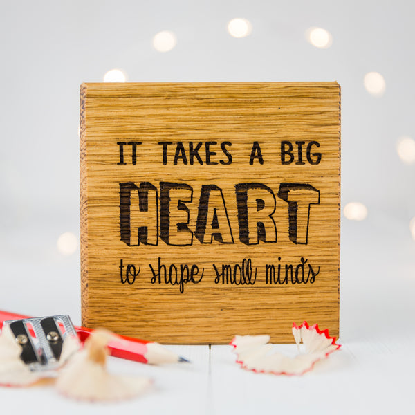 Personalised 'It Takes A Big Heart' Teachers Coaster