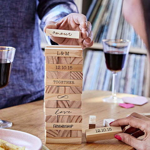Personalised Couples Stacking Tower