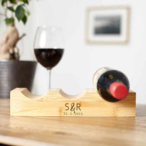 Personalised Monogrammed Bamboo Wine Rack