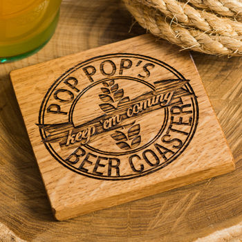 Personalised Beer Coaster and Bottle Opener