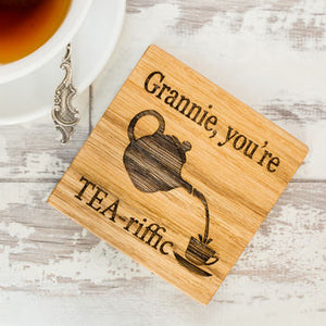 Personalised You're Tea Riffic Coaster