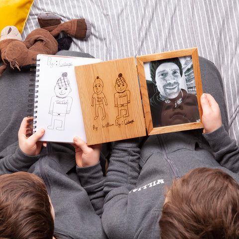 Personalised Oak Book Picture Frame