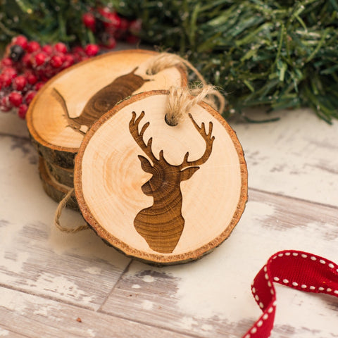 Woodland Animal Tree Decorations - Set of Four